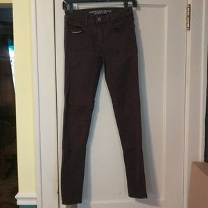 American Eagle Jegging size 0 Plum Skinny Pants